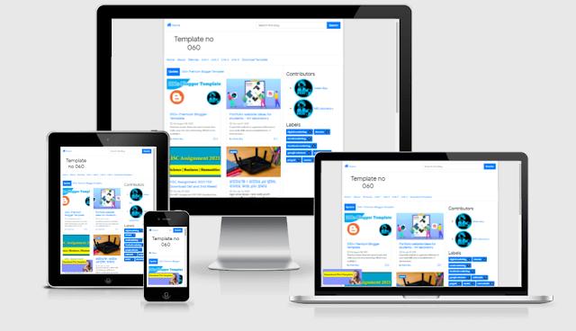 Bootstrap 4 premium blogger template