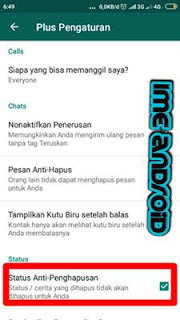 Cara setting status anti hapus pada whatsapp