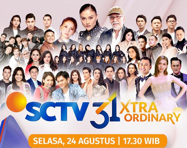 Deretan Artis Top Siap Menghibur di Malam Puncak HUT SCTV 31 Xtraordinary