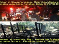 Diduga Korsleting, Sepekan 2 Kejadian Kebakaran Di Pangkep Diwaktu dan Tempat Berbeda