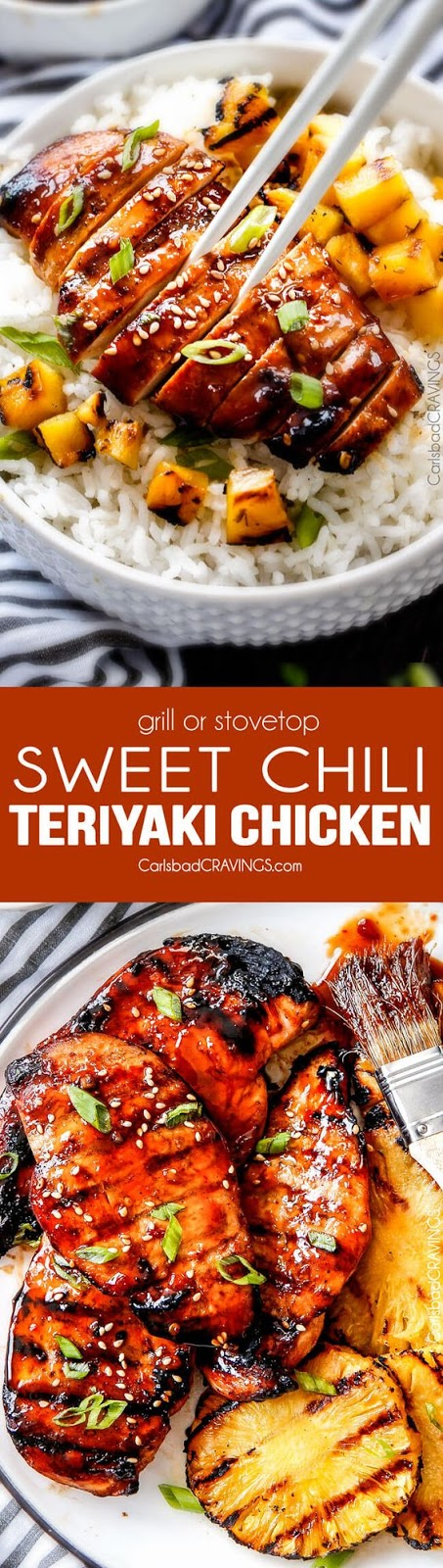 TERIYAKI CHICKEN (GRILL OR STOVE TOP)