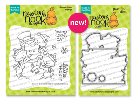 Newton's Snowman Stamp Set and Coordinating Die Set by Newton's Nook Designs