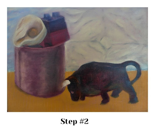 STEP #2: Defining shapes into color blocks.