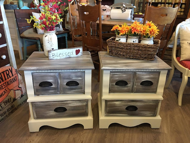 matching night stands with cup pulls