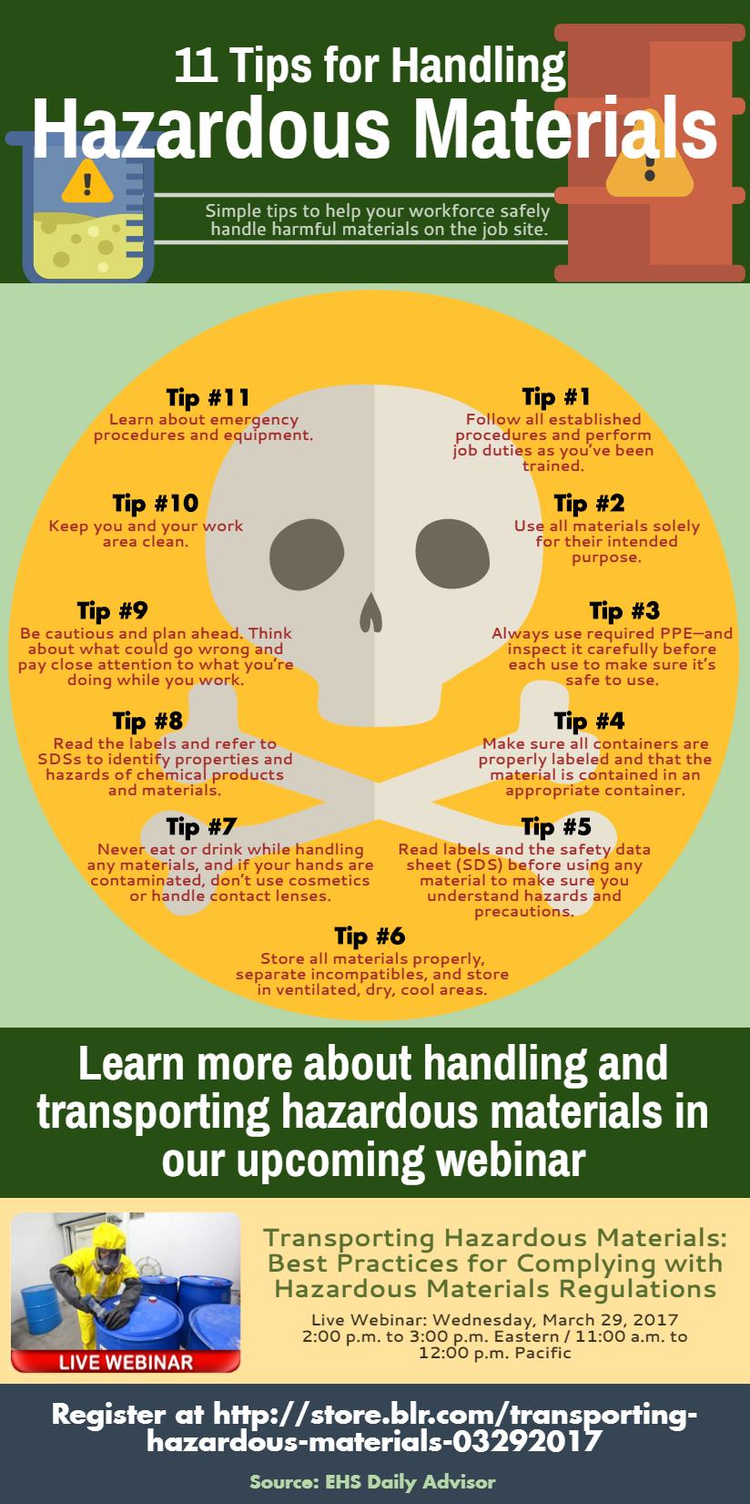 11 Tips for Handling Hazardous Materials #infographic #Hazardous Materials #infographics #Hazardous #Safe Handling