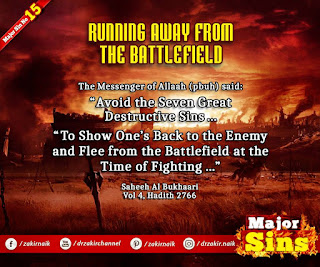 MAJOR SIN. 15. RUNNING AWAY FROM THE BATTLEFIELD