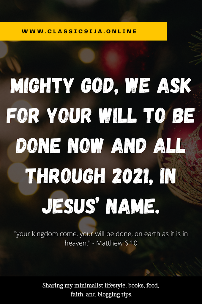 Thy Will be Done (Matthew 6:10)