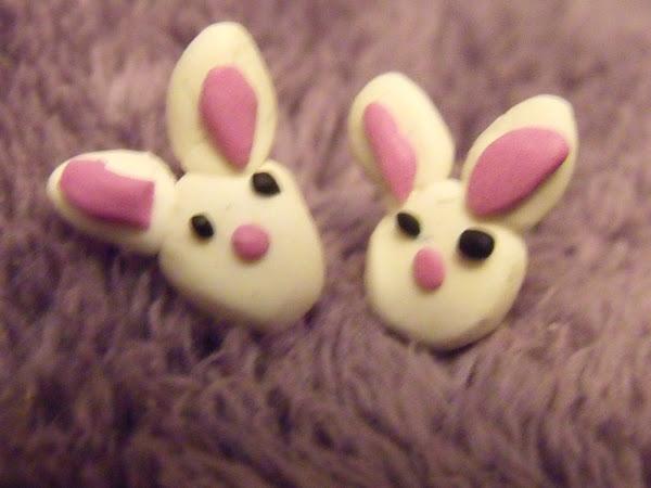 Pink Rabbit Earrings