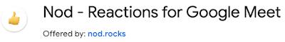 Nod reactions for Google Meet