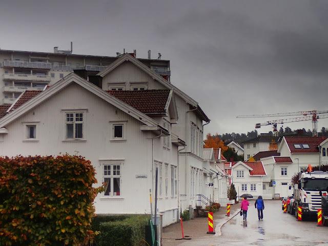 Białe domki na Bjerggacie