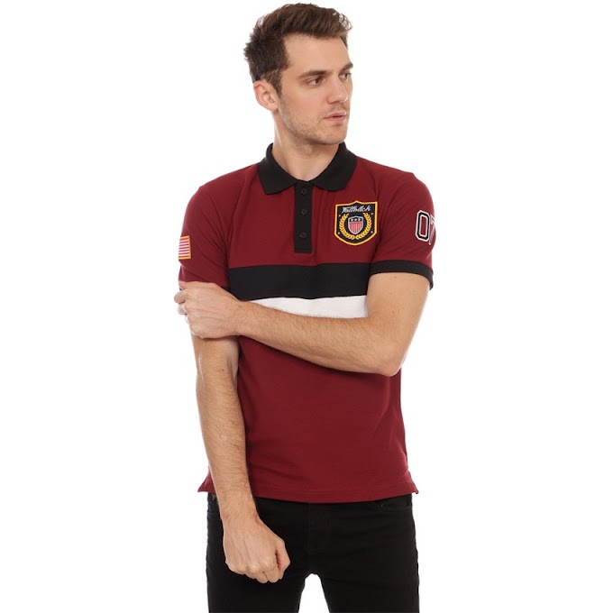 Polo Shirt Exclusive Series Brooken Dark Maroon