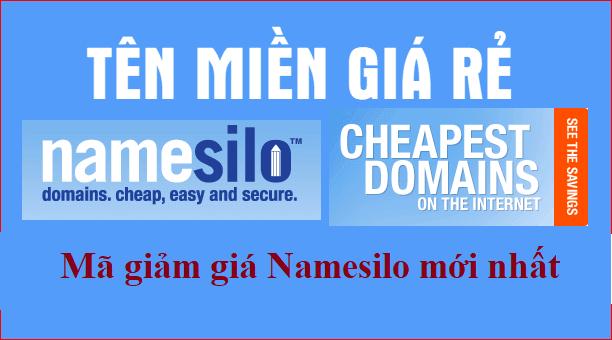 Mã giảm giá tên miền NameSilo tháng 8/2019  - tên miền rẻ nhất thế giới