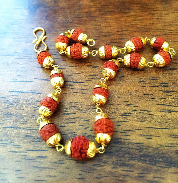 Rudraksha bracelet also called Shiva's tears