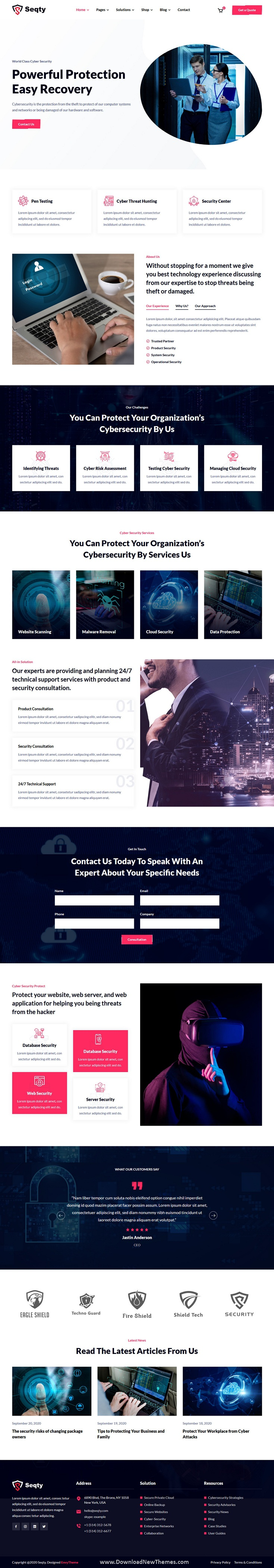 Cyber Security Services HTML Template
