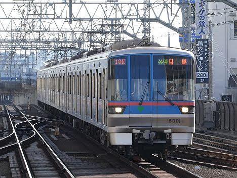 【定期外運用!】都営6300形 東急目黒線 各停 目黒行き