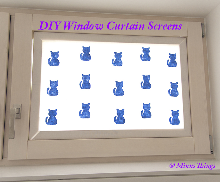 DIY Window Curtain Screen - How To Tutorial and Tips
