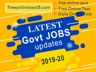 Government Jobs 2020,sarkari job, latest govt jobs, central government jobs