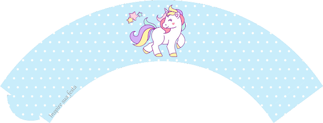 Unicorn: Free Printable Toppers and Wrappers for a Birthay Party.