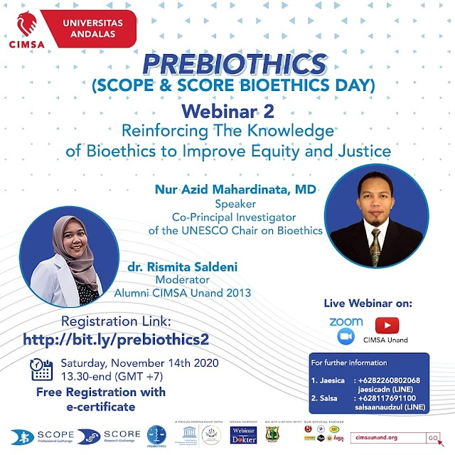 [PREBIOTHICS: REINFORCING THE KNOWLEDGE OF BIOETHICS TO IMPROVE EQUITY AND JUSTICE]