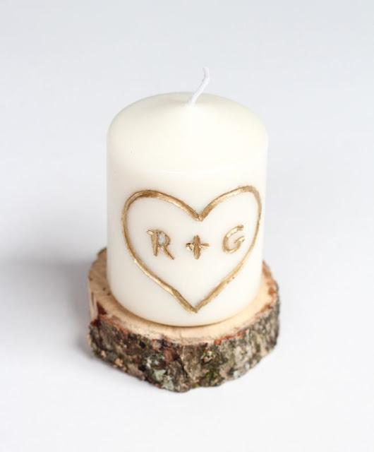 El regalo perfecto para San Valentín, una vela con vuestras iniciales