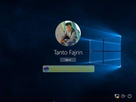 Mengubah Gambar Background Logon Screen Windows 10