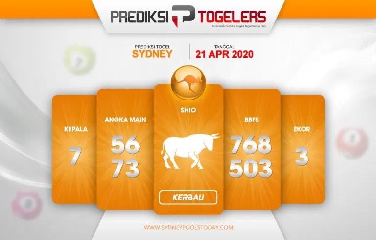 Prediksi Togel Sidney 21 April 2020 - Prediski Togelers Sydney