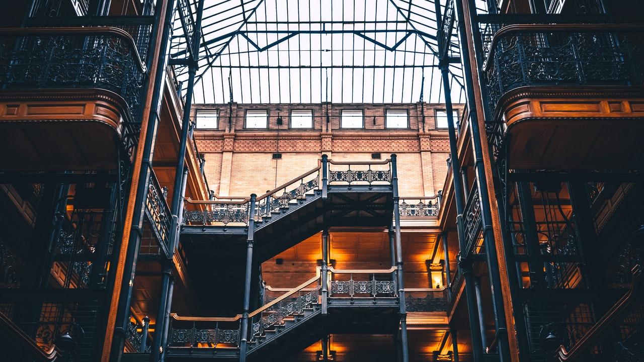 arquitectura de hierro y cristal