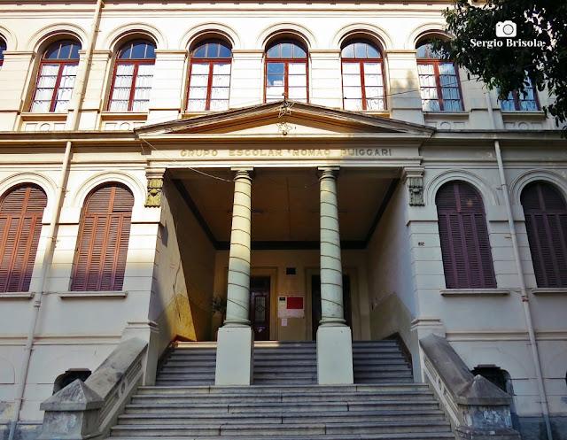 Vista da entrada da Escola Estadual Romão Puiggari - Brás - São Paulo