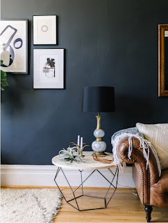 black wall side table lamp