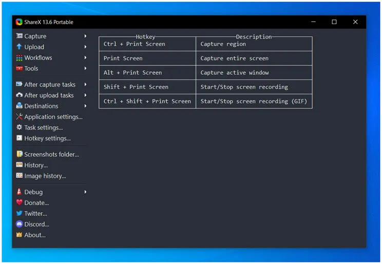 ShareX :  Κορυφαία δωρεάν εφαρμογή Capture για τα Windows