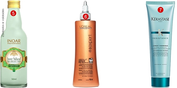 Leave-in para cabelo com proteção térmica