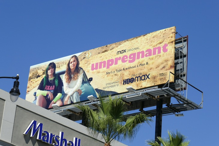 Unpregnant film billboard