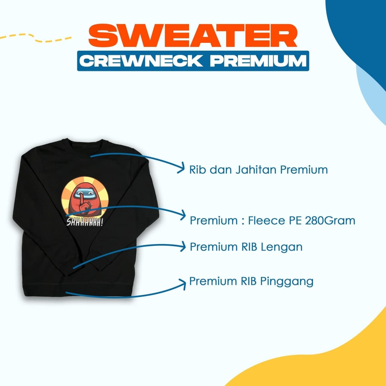 Spesifikasi Sweater Premium