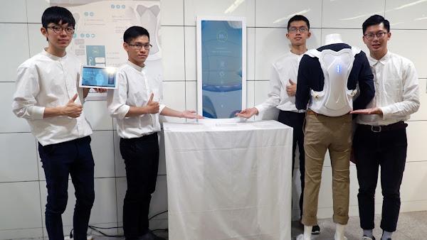 遠距檢測骨質疏鬆 大葉大學工設系設計智能背架
