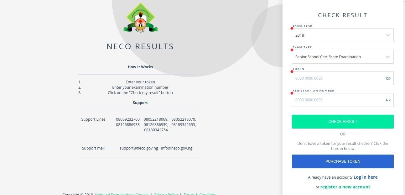 2019 NECO June/July (SSCE) Exam Result Checker [PHOTOS]