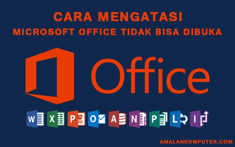 Cara Memperbaiki Microsoft Office Word Dan Excel 2007 2010 Dan 2016 Tidak Bisa Dibuka Trik Tips Komputer Laptop 2020