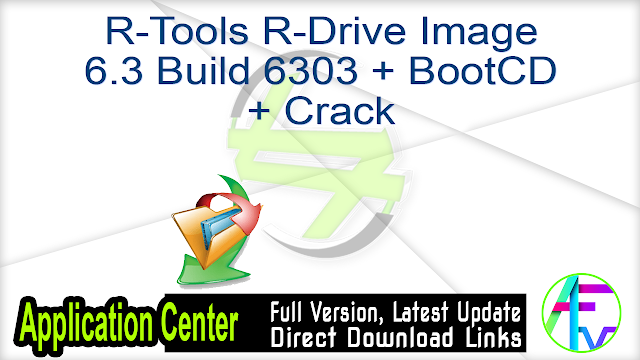 R-Tools R-Drive Image 6.3 Build 6303 + BootCD + Crack