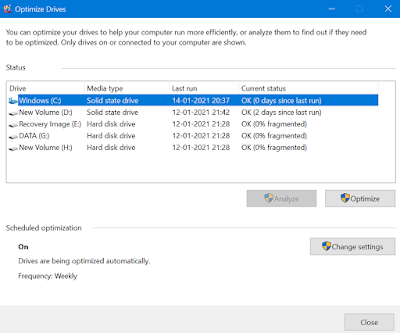 how to use Windows Disk Defragment Utility