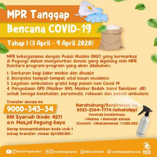 Tanggap Bencana  Covid-19 bersama Masjid Pogung Raya (MPR)