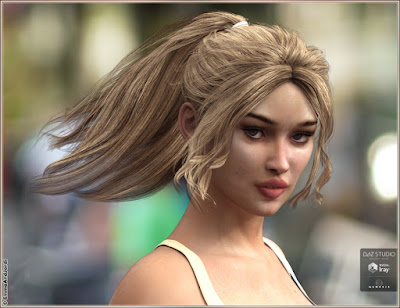 Sherry Hair for Genesis 3 Female