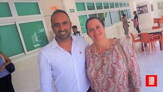 Israel Urbina y Cynthia Santa María.