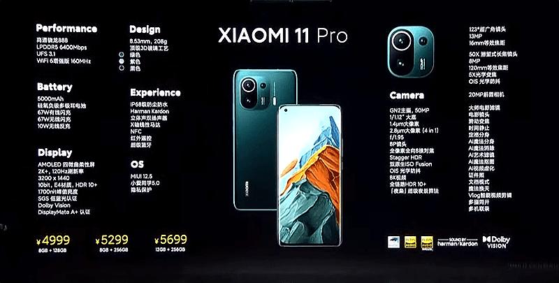 Xiaomi Mi 11 full features