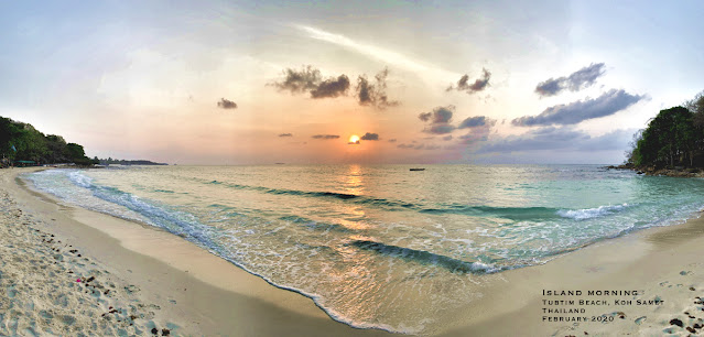 Panoramic photo of Tubtim beach on Koh Samet