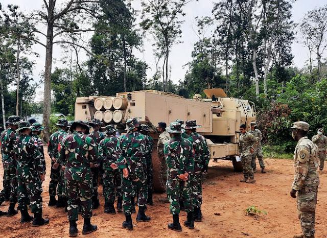 TNI AD dan US Army Live Fire Exercise Gunakan Roket HIMARS dan Astros