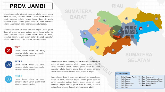 peta powerpoint JAMBI