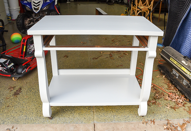 General Finishes Seagull Gray painted console table