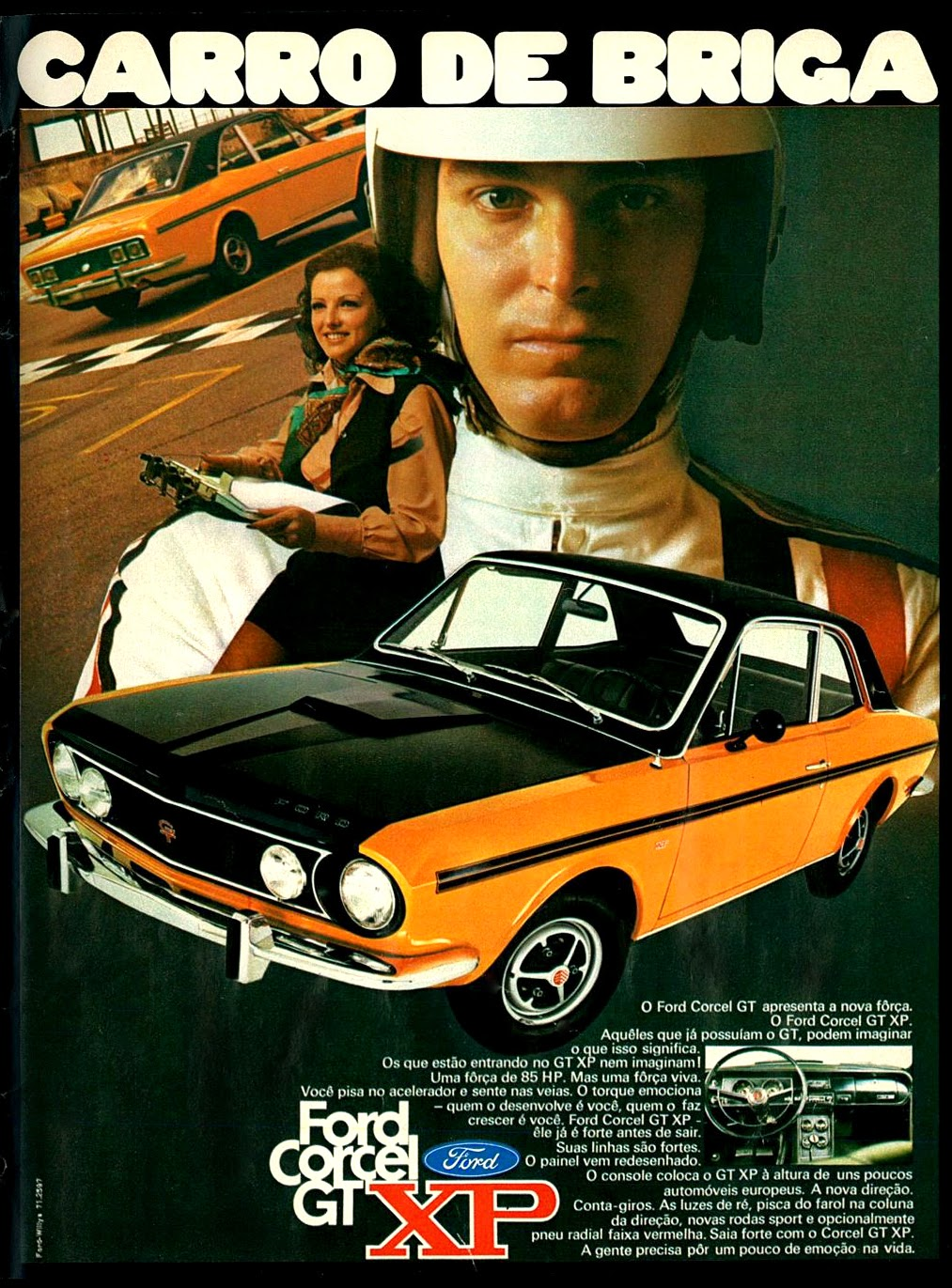 Ford. 1971; brazilian advertising cars in the 70s; os anos 70; história da década de 70; Brazil in the 70s; propaganda carros anos 70; Oswaldo Hernandez;