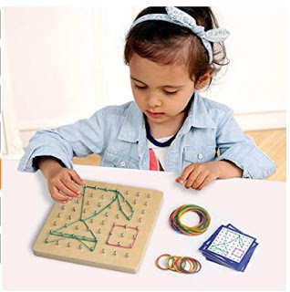 Montessori Wooden Geoboard