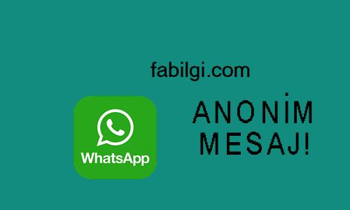 Whatsapp Anonim Gizli Mesaj Gönderme Sitesi Çalışıyor 2021