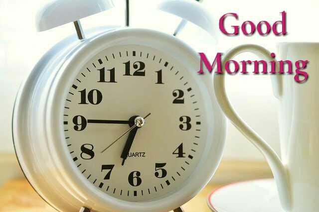 Awesome good morning photo image with morning alarm